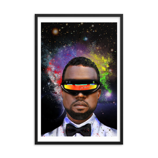 Kanye West Abstract Framed Poster - PREMIUM FATURE