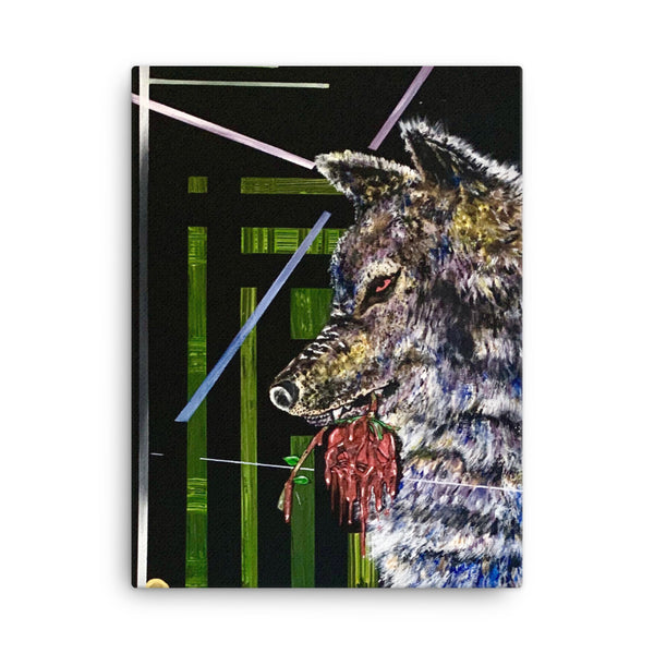 Abstract Wolf Canvas Painting - PREMIUM FATURE