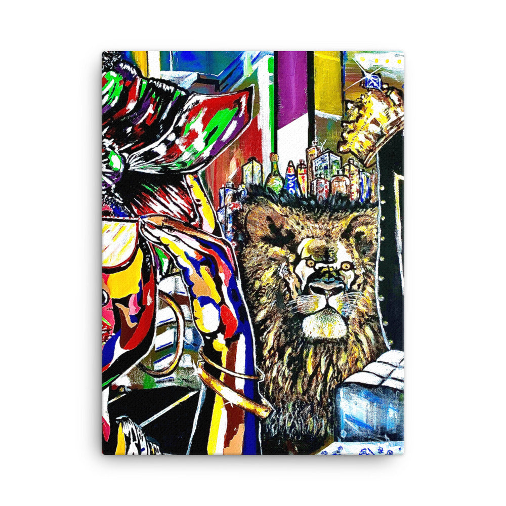 """Secure Your Confidence"" Pop and Abstract Canvas - PREMIUM FATURE"