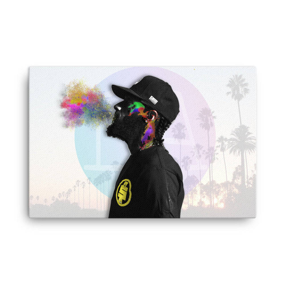 Nipsey Hussle Abstract Color Splash Canvas - PREMIUM FATURE