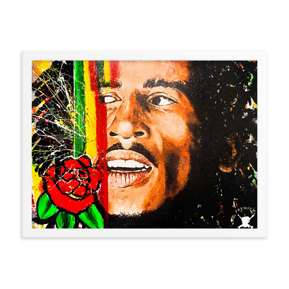 Bob Marley Abstract Framed Poster - PREMIUM FATURE