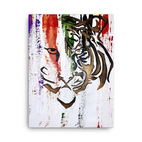Abstract Tiger Canvas Art: Courageous - PREMIUM FATURE