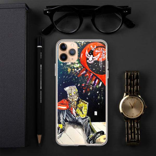 Abstract Heart Comic IPhone Case - PREMIUM FATURE