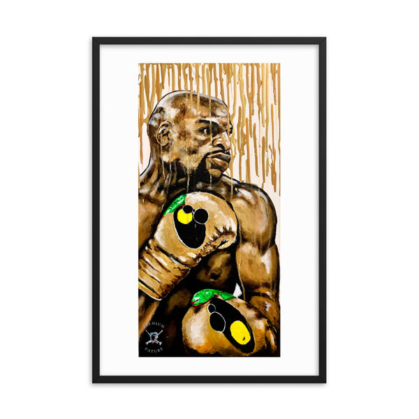 "Floyd Mayweather ""Gold Drip"" Framed Poster - PREMIUM FATURE"