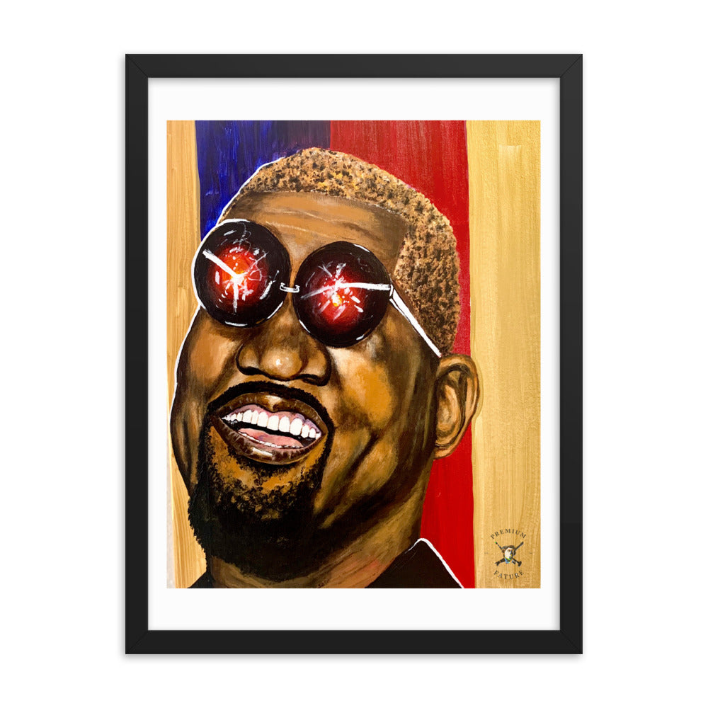Kanye West Futuristic Abstract Framed Poster - PREMIUM FATURE