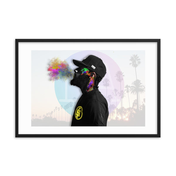 Nipsey Hussle Abstract Color Splash Framed poster - PREMIUM FATURE