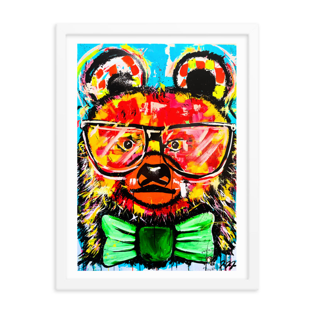 Abstract Bear Framed Poster - PREMIUM FATURE