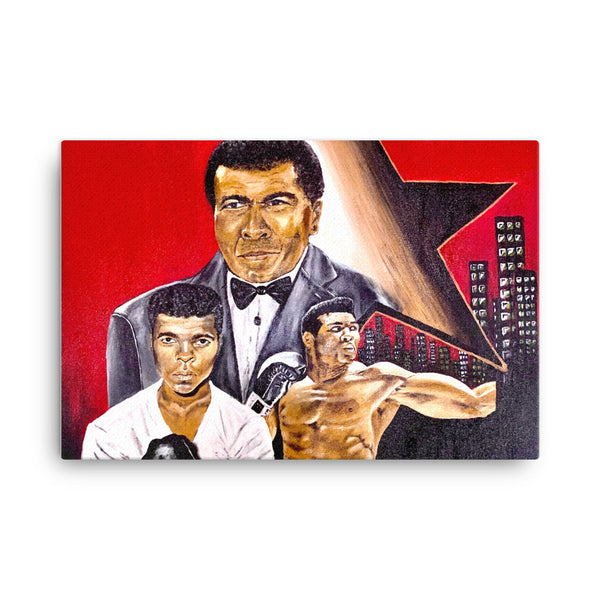 """Muhammad Ali Generation"" Pop Art Canvas - PREMIUM FATURE"