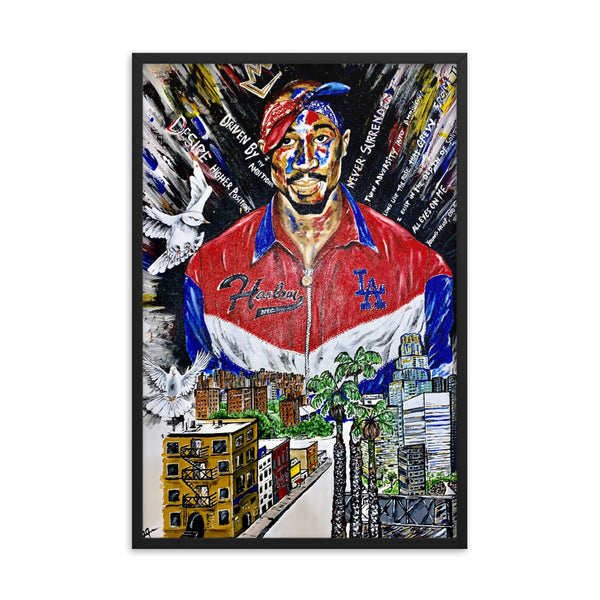 Tupac Shakur Framed Poster: All Coast - PREMIUM FATURE