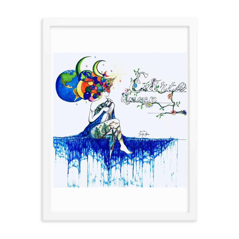 Earth Queen Framed Poster - PREMIUM FATURE