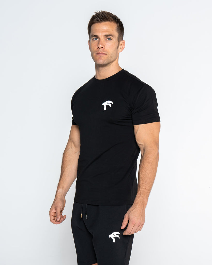 CORE BLACK TEE - FALCON