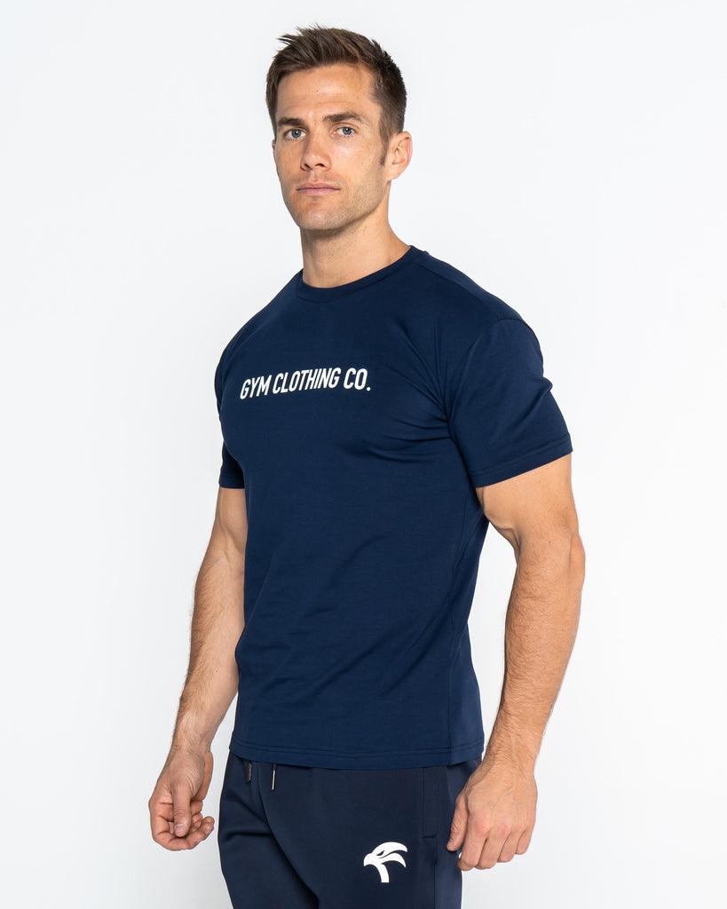 CORE TEE WORDING - BLUE