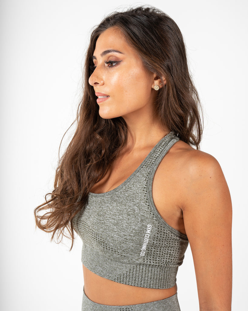 Bloom Sports Bra - Olive Green