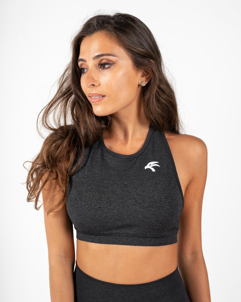 Blush Sports Bra  - Midnight Black
