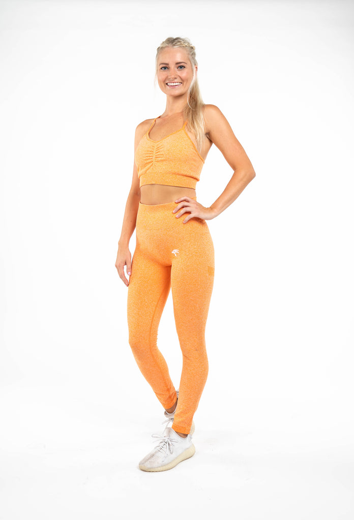 Glow Sports Bra  - Mandarin Orange