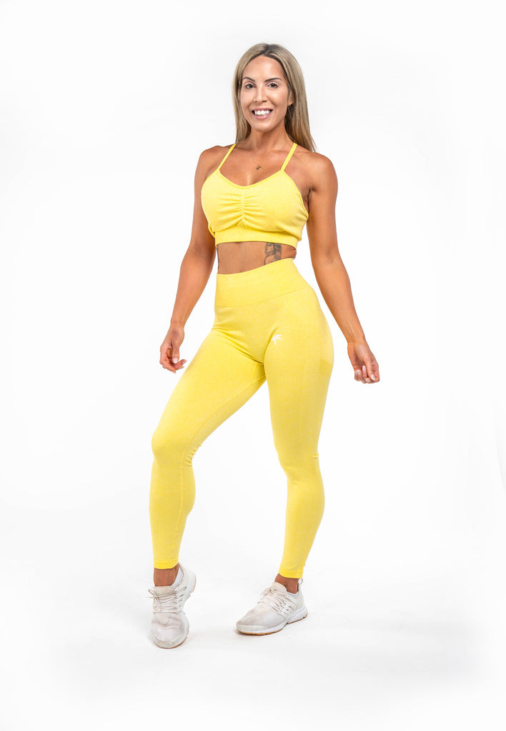 Glow Leggings - Lemon Yellow