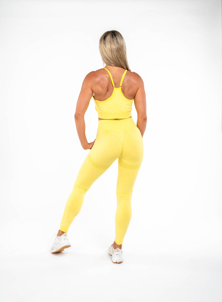Glow Sports Bra  - Lemon Yellow