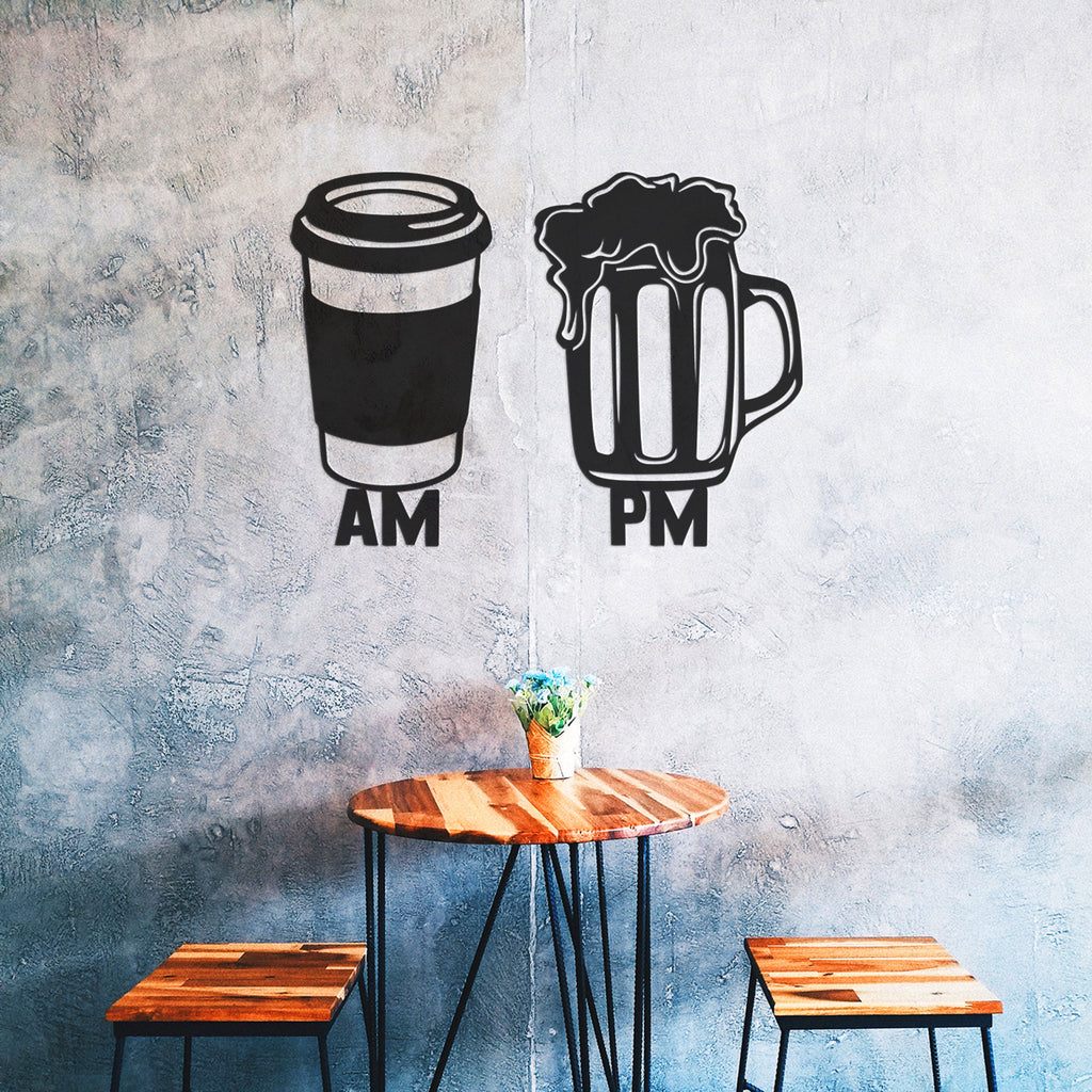 Am Pm Beer Sign - Metal Wall Art - Tolary