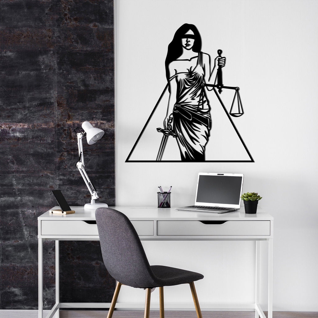 Lady Justice - Metal Wall Art - Tolary