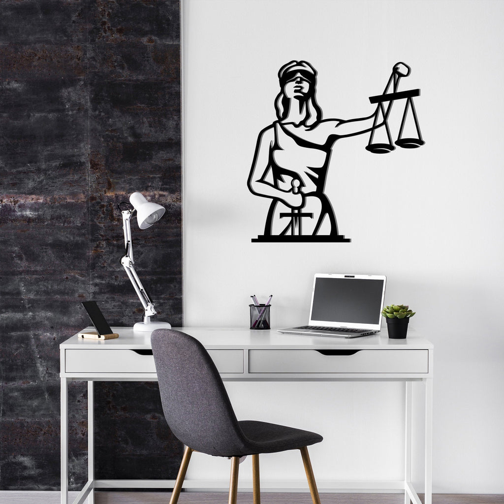 Lady Justice - Metal Wall Decor - Tolary