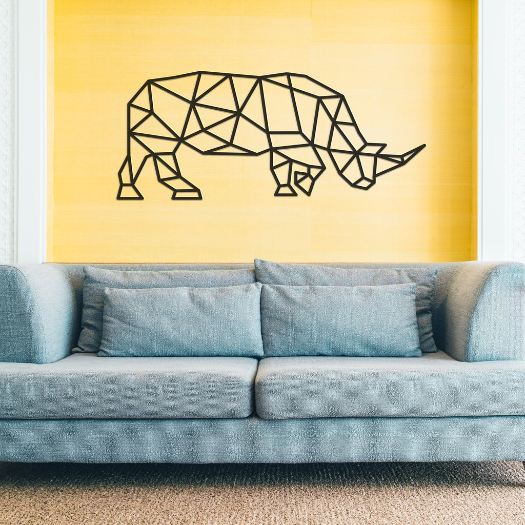 Geometric Rhino - Metal Wall Decor - Tolary