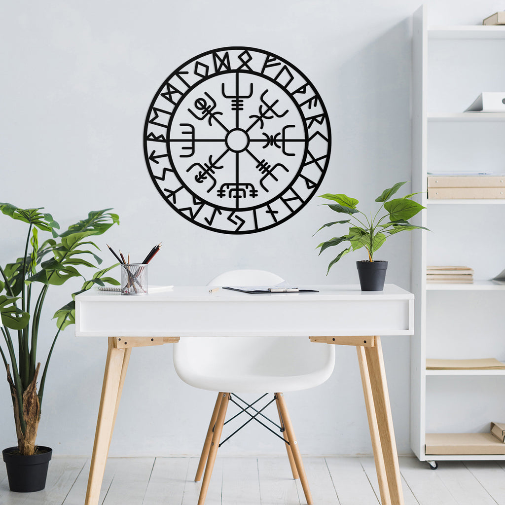 Vegvisir - Metal Wall Art