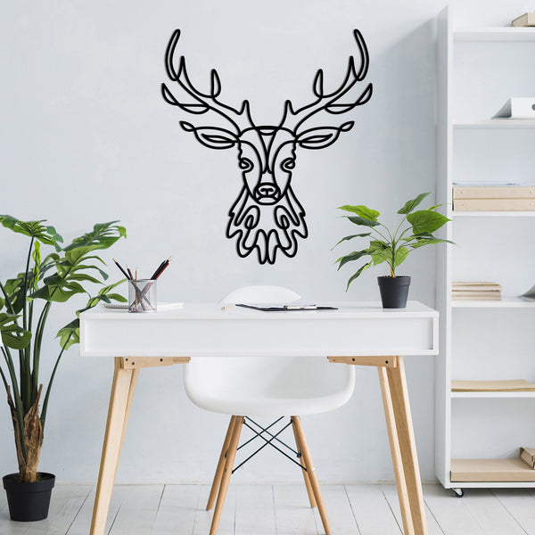Deer Head - Metal Wall Art
