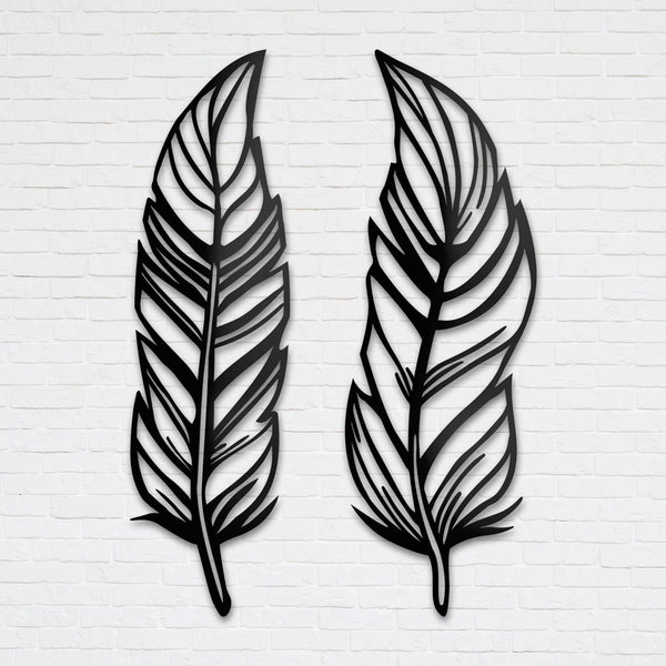 Feathers - Metal Wall Art (Set of 2)