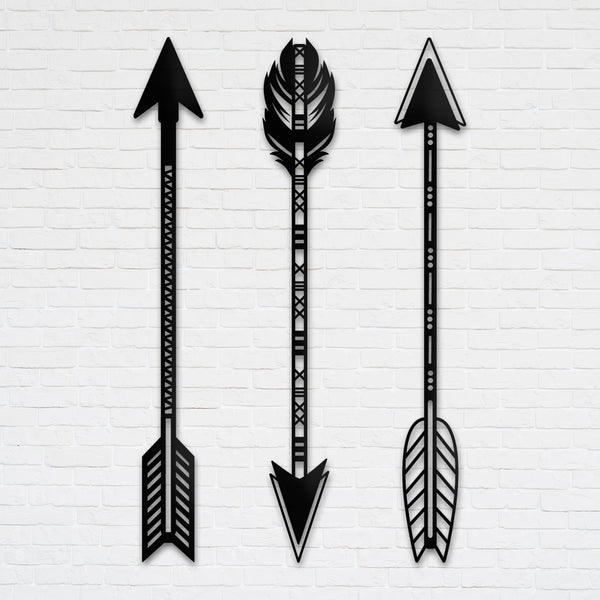 Arrow-Metal Wall Art (Set of 3)