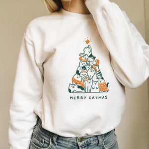 Merry Catmas  Christmas Sweatshirt