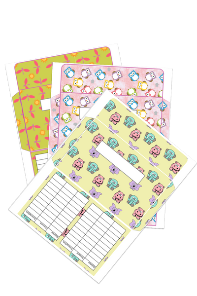 Cash Envelopes Cute Animals Design (Printable)