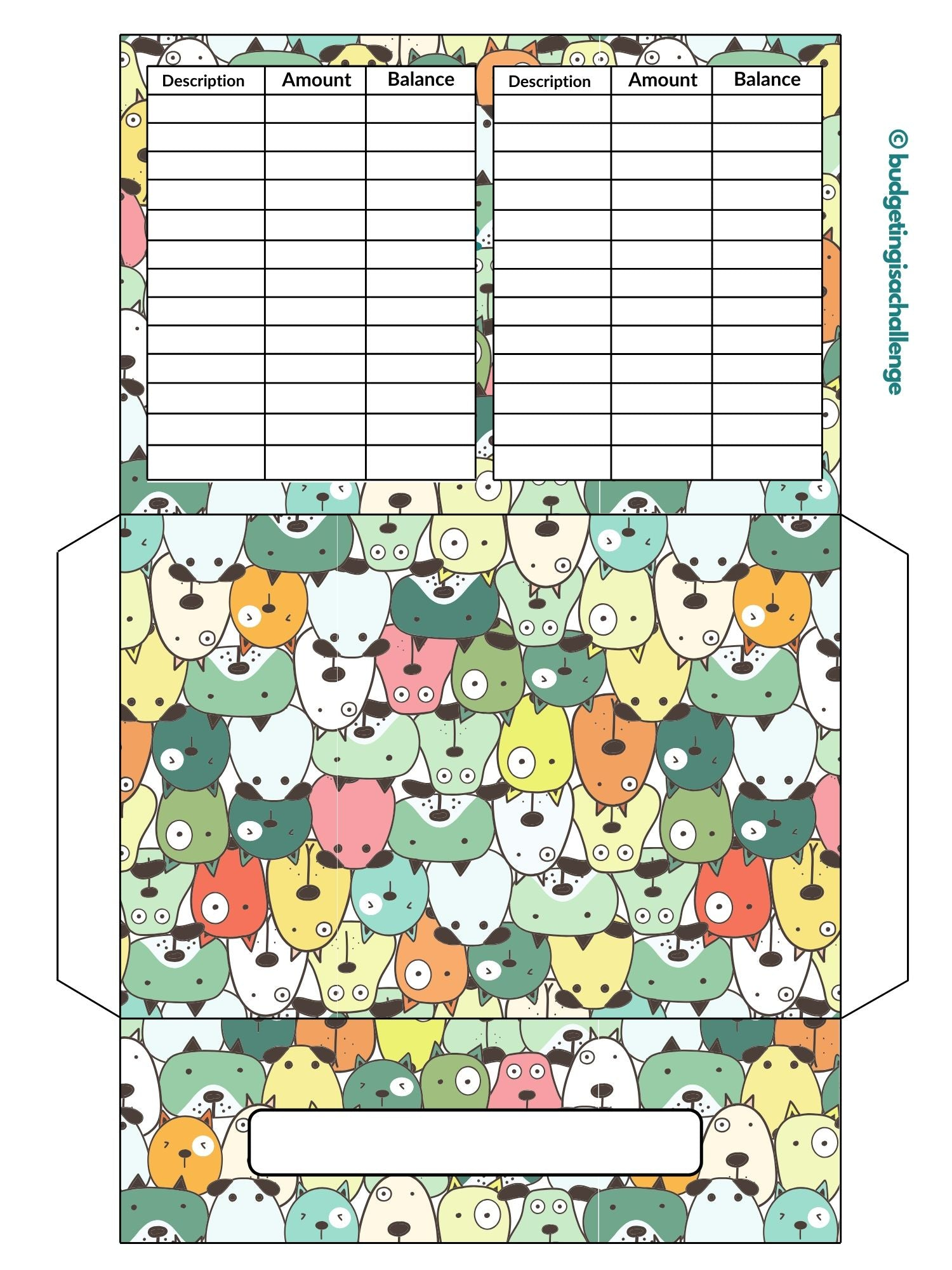 Cute dog cash envelope. Cash envelopes can help you limit your spending. This comes free with the budget sheet mini bundle.