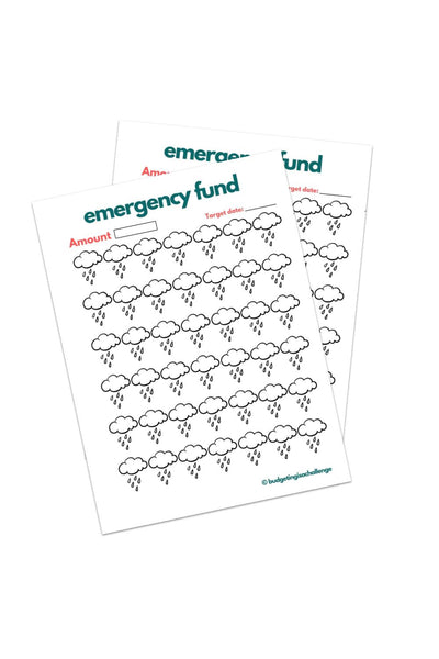 Emergency fund tracker (Printable)