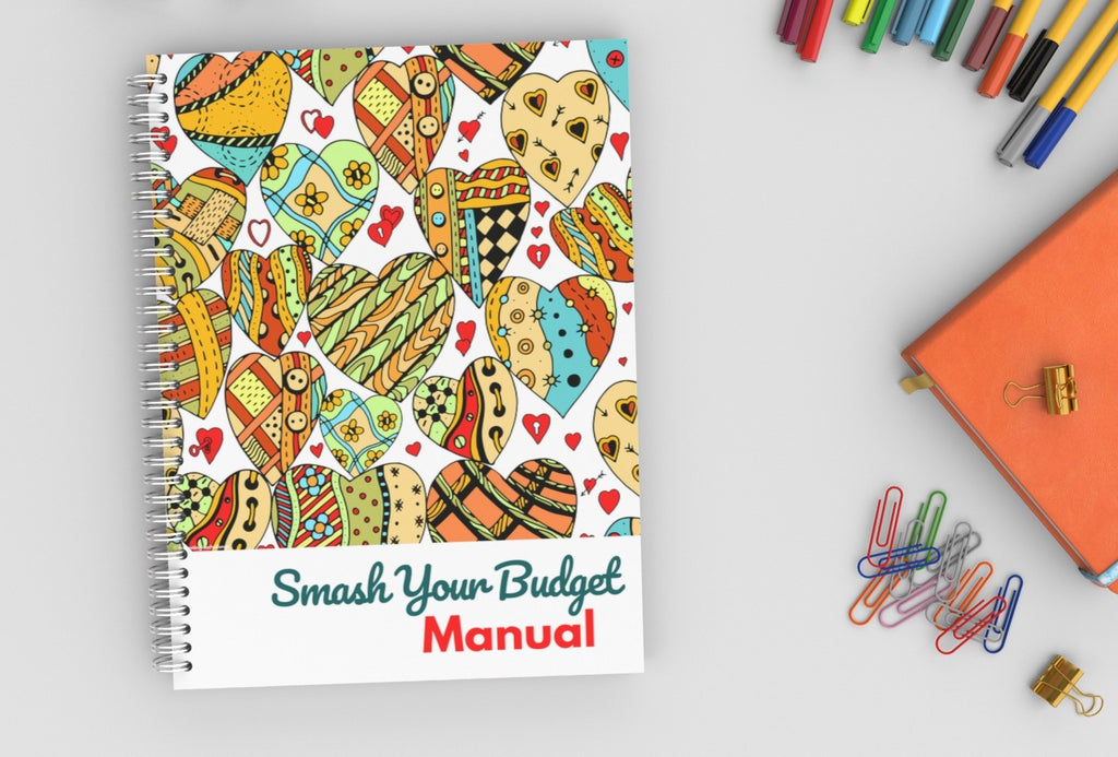 Smash Your Budget Manual Cute Hearts 86 pages Digital Download