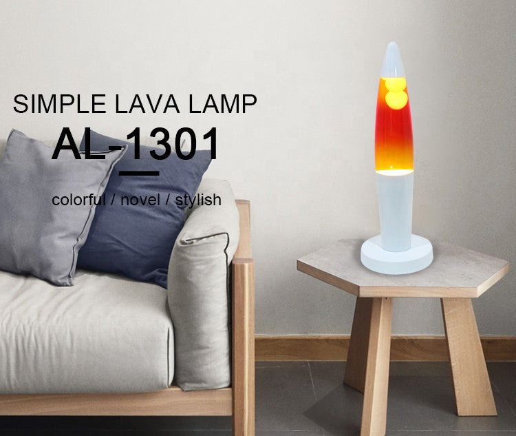 Australia portable display accent design color painted home decoration accent design lava lamp with tricolored