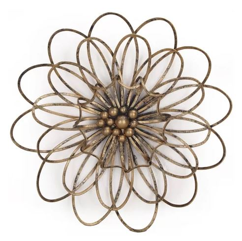 Beautiful Art Wall Accent / Iron Lotus Design - Wall Art-oosmdeals