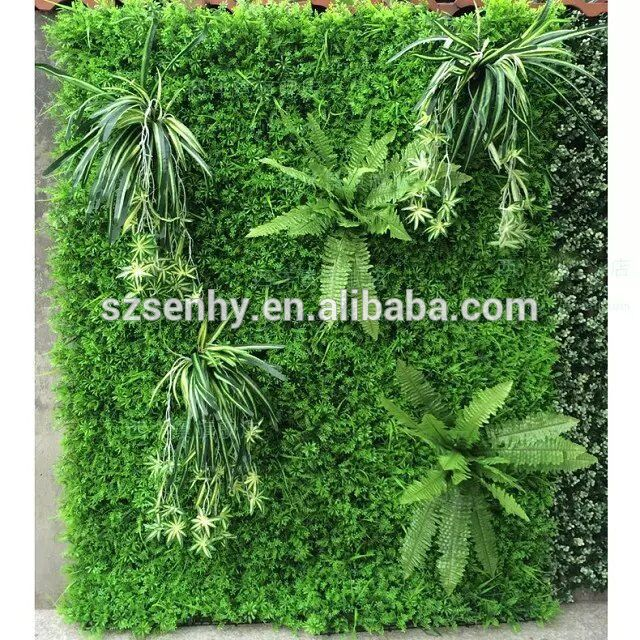 Beautiful Plastic Artificial Plants Outdoor Green Wall