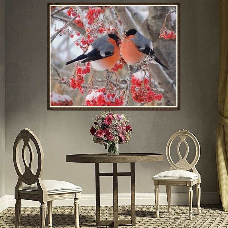 Flowers canvas birds oriental wholesale home decor accents