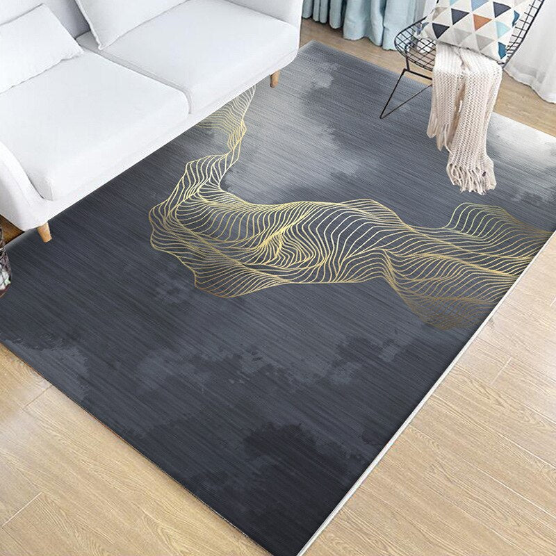 Nordic Simple Carpet Living Room Sofa Coffee Table Bedside Bed Mat Floor Bedroom Slip Washable Factory Wholesale Square Rug