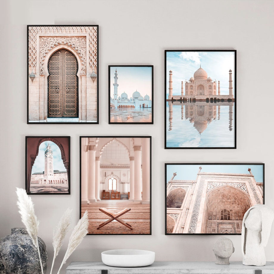 Wall Art Canvas Painting Sheikh Zayed Grand Mosque East Gate Nordic Posters And Prints - wall art