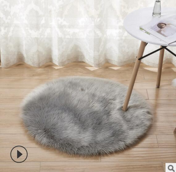 New Soft Faux Fur Wool Living Room Sofa Carpet Plush Carpets Bedroom Cover Mattress Xmas Door Window Round Rugs Carpets