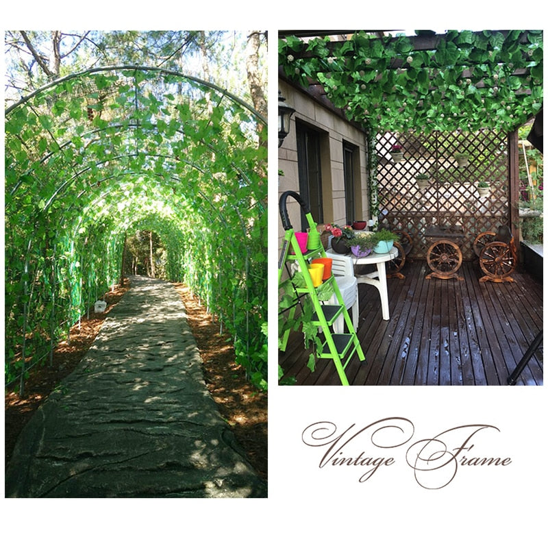 230cm green silk artificial Hanging ivy leaf garland plants vine leaves 1Pcs diy For Home Wedding decoration Garden Party Decor