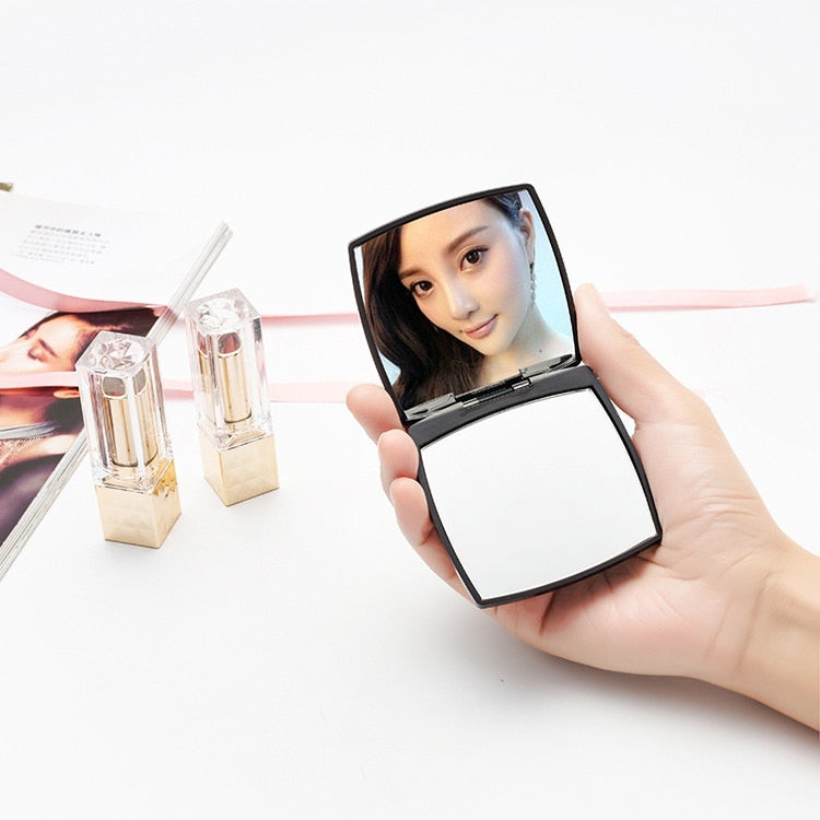 Small mirror cosmetology makeup mirror portable small mirror flip - home decor Online store