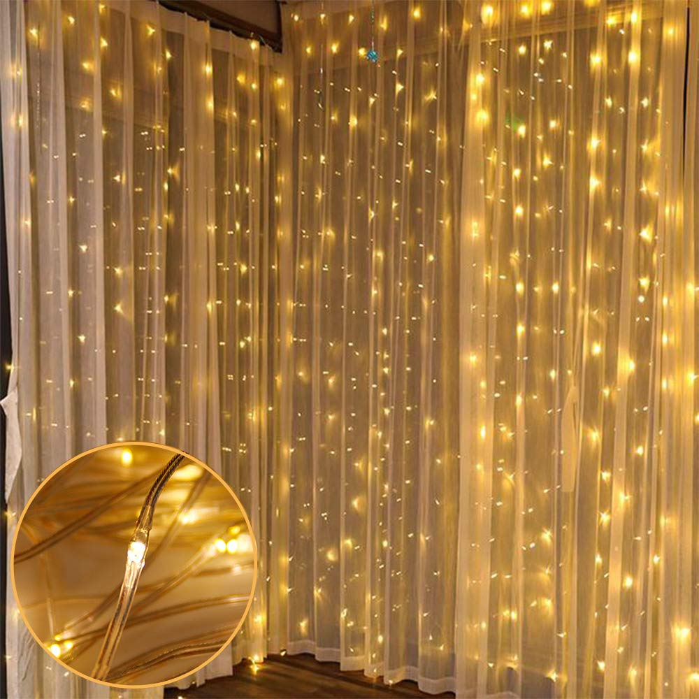 3*3M 300 Leds Fairy Lights Led Curtain String Garland Christmas with Controller For Home Outdoor/Indoor Decorative Xmas Party - home decor Online store