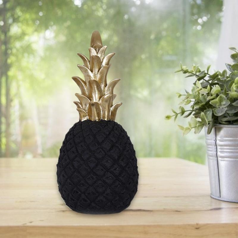 Nordic modern home decor pineapple ornament synthetic resin individual metal finishes - home and decor