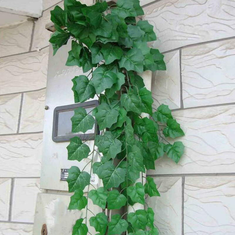 Artificial Plants Creeper Green Leaf Ivy Vine For Home Wedding Decoration Wholesale DIY Hanging Garland Artificial Flowers-oosmdeals