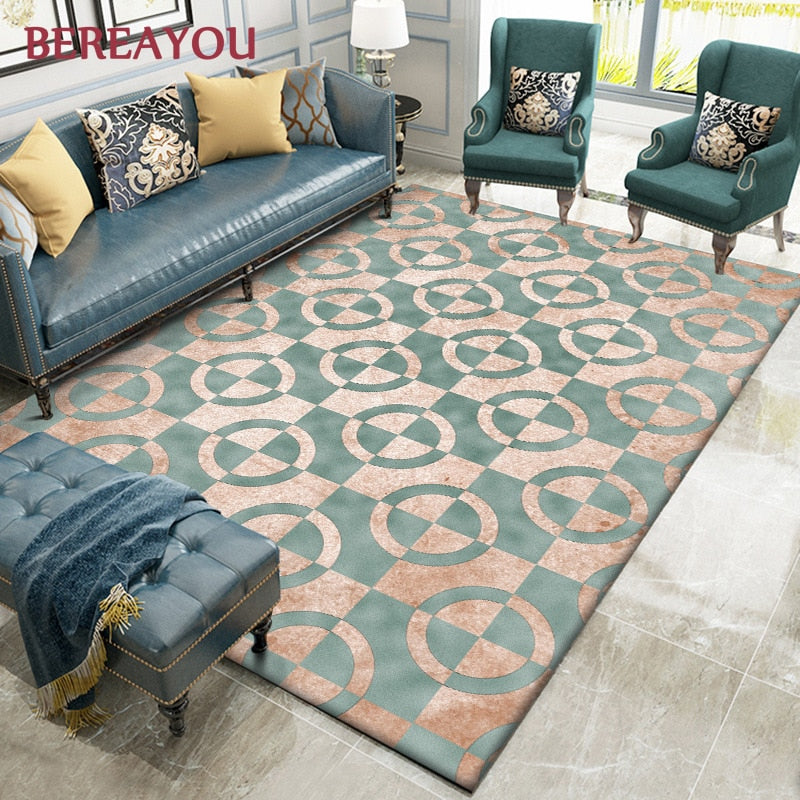 Modern Rugs and Carpet Living room Luxury Bedside Carpet Floor Mat - home and decor