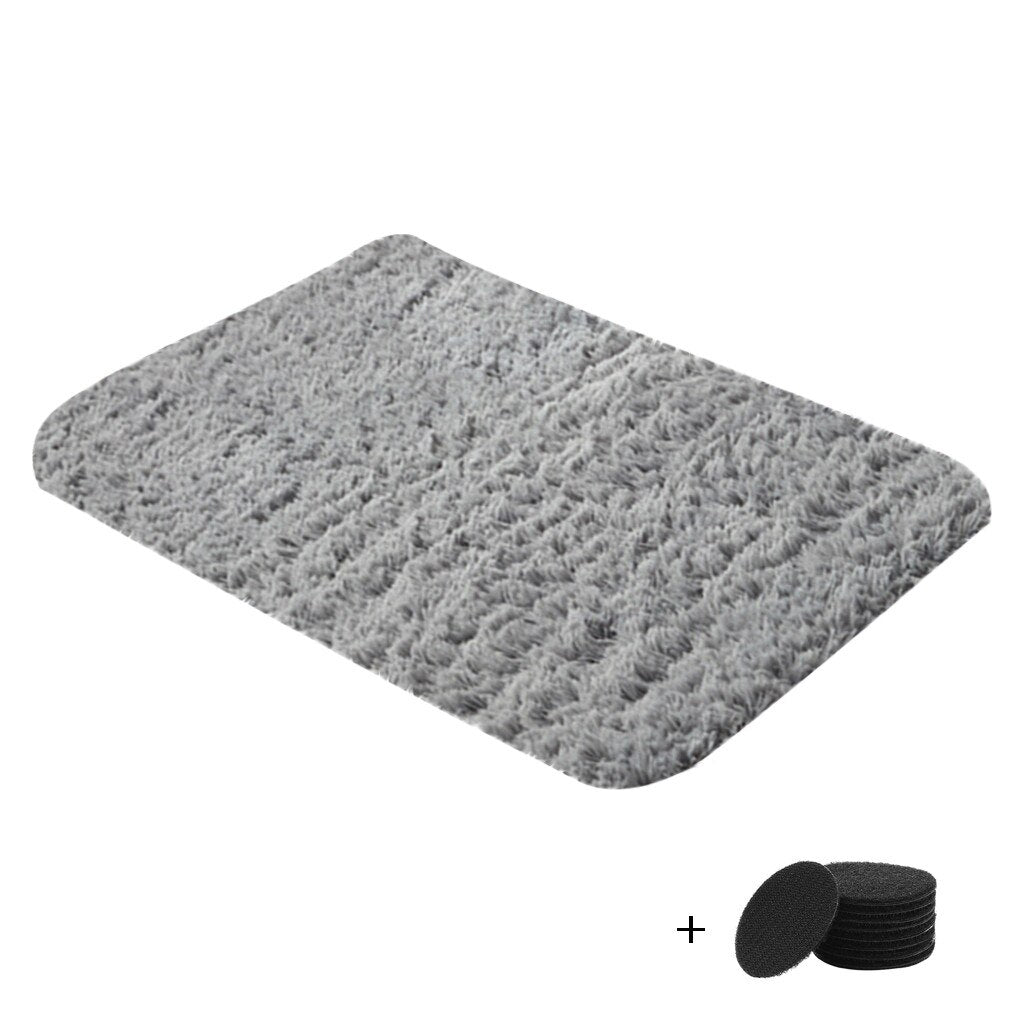 Solid Color Carpet Mat Ultra Soft Modern Area Rugs Shaggy Nursery Rug Home Room Plush Carpet - home and decor-oosmdeals