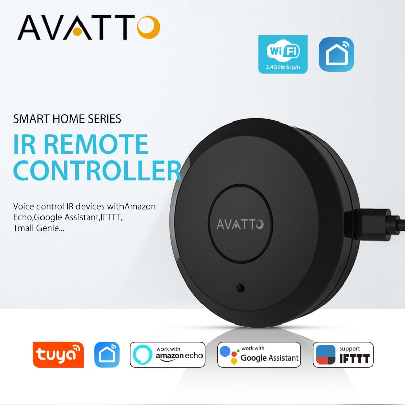 AVATTO S07 Tuya Universal Smart 2.4G WiFi IR Remote Control with Alexa - home and decor-oosmdeals