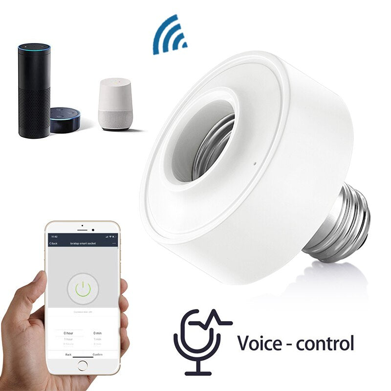 WiFi Light Socket Voice Control Tuya Smart Life Smart Lamp Holder Remote Control Led Bulb Google Home Amazon Echo Alexa